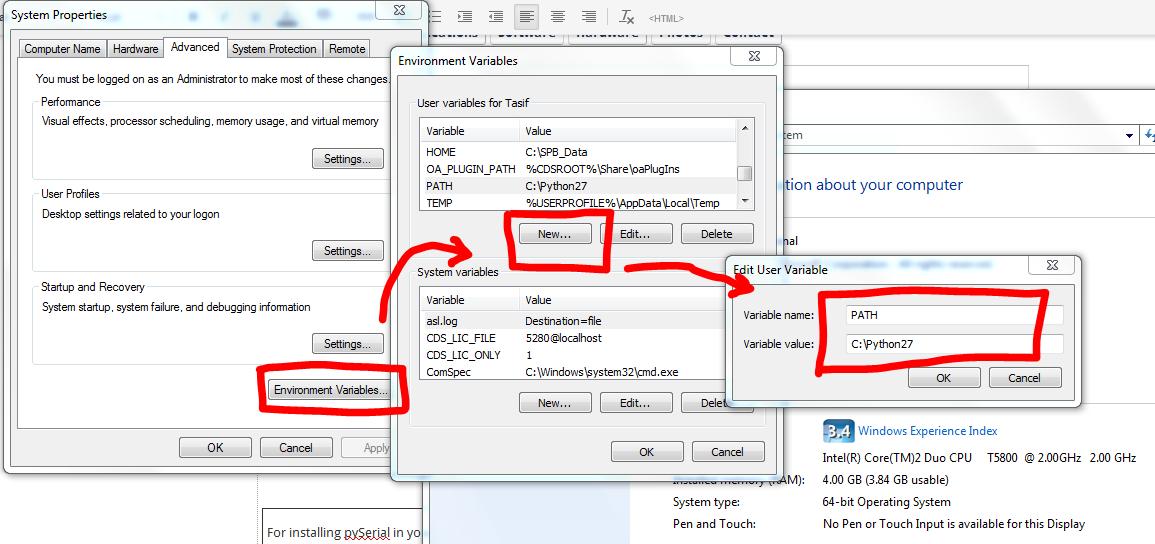 settingEnvironmentVariableWindows